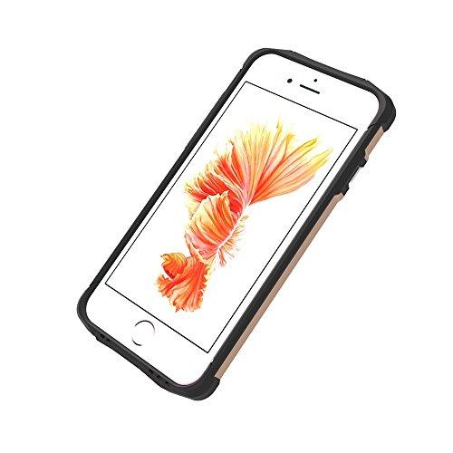 Phone Case & Hülle Für iPhone 6 Plus und 6s Plus TPU + PC Stahl Rüstungskoffer ( Color : White ) Gold