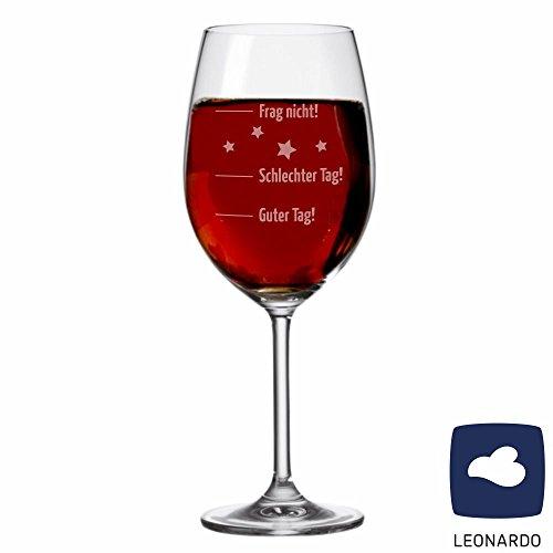 XL Jumbo Weinglas Guter Tag, schlechter Tag... - Stimmungsglas - Weinglas - groß - mit Spruch - Geschenk -Weihnachtsgeschenk - Geburtstagsgeschenk - Geschenkidee
