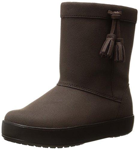 Crocs LodgePoint Boot, Bottes Souples fille Marron (Espresso)