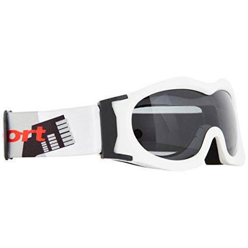 Ultrasport Kinder-Skibrille mit Antibeschlag-Scheibe, weiß/schwarz/grau