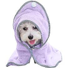 Albornoz para Perro Mascota Toalla de Baño - Secado Rápido Hidrófugo Toalla Súper Absorbente para Perros