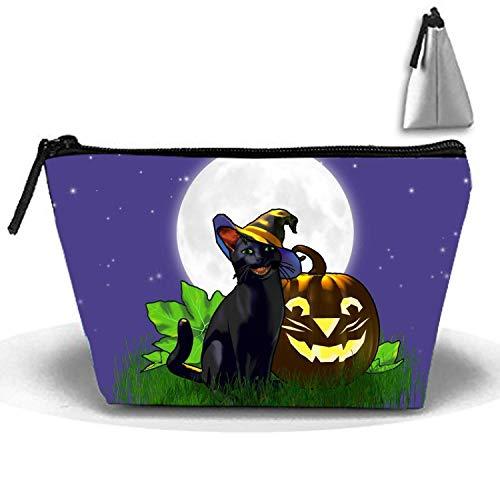 verschluss Aufbewahrungstasche Tragbare Damen Reise Kürbis Halloween Make-Up Tasche ()