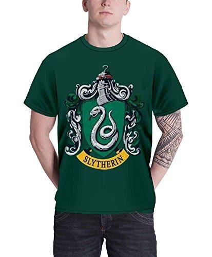 Harry Potter Slytherin offiziell Herren Nue Grün T Shirt