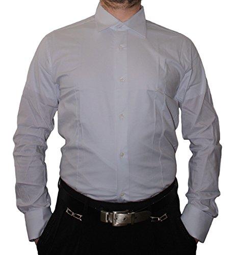 Designer camicia da uomo Slim Fit aderente a maniche lunghe colletto classico molti colori Slim Fit FL Bügel pirrolidone Grigio chiaro