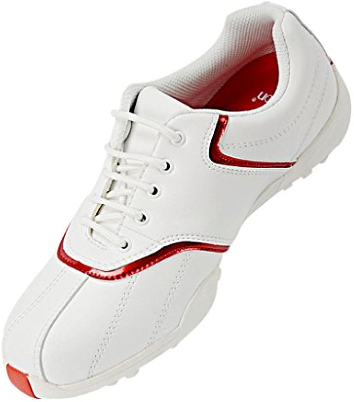 Sharplace Damen Golf Schuhe Wasserdichte Leichte Frauen Golfschuhe Atmungsaktiv Rutschfest Schnürschuhe