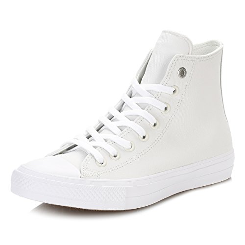 Converse Womens Chuck Taylor All Star II Hi Leather Trainers White