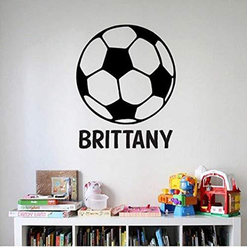Fußball ball name wandtattoo aufkleber große kinder schlafzimmer dekor großen spaß kindergarten jungen aufkleber benutzerdefinierte namen aufkleber fußball 42x42 cm