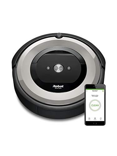iRobot Roomba e5154 Saugroboter (Ideal bei Tierhaaren, mit Gummibürsten, hohe Saugkraft, befreit alle Hartböden und Teppiche von Tierhaaren ohne Verhedderungen) silber