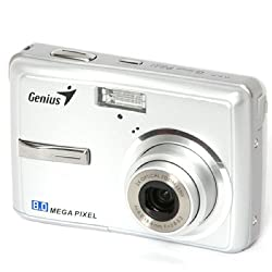 Genius G-Shot P831 8MP Point and Shoot Camera (Silver) with 3x Optical Zoom