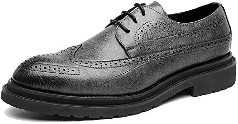 Ruanyi Leder Oxford Schuhe Männer  Mode Design PU Leder Brogue Schuhe Klassische Lace up Breathable Hollow SquareRuanyi Mode Design Klassische Breathable Gefüttert