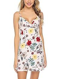 7255fa7b6 Aibrou Vestidos Mujer Algodón Verano,Vestidos de Playa sin Mangas Falda  Largo Sexy Elegante y