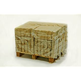 Hotblocks Great British Made Wood fuel.Quarter Pallet of 288 Briquettes (240kg) for use in woodburners, multi stoves, wood ovens, log boilers, chimeneas, firepits & open fires