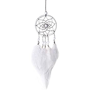 Cosanter Handmade Bead String Plush Dream Catcher Pendant Dream Catcher Car Pendant Wind Chimes 1PCS