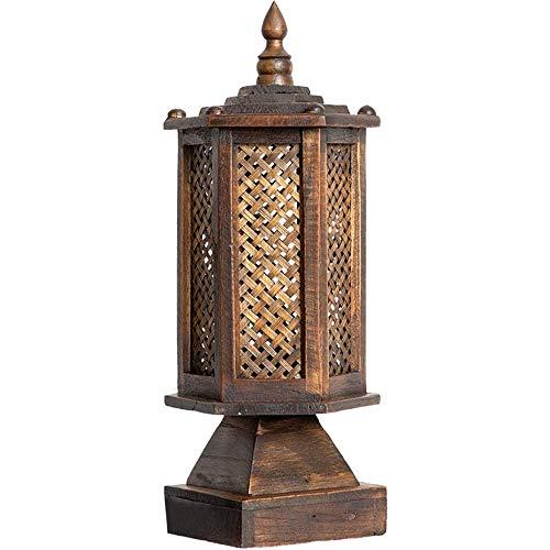 Liunce Lámpara de mesa Vintage seis caras sudeste asiático ...