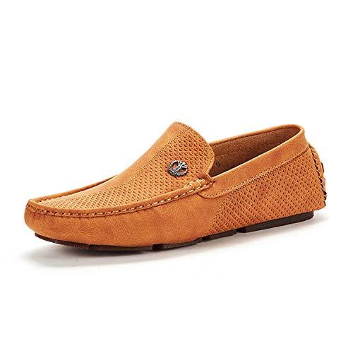 Bruno Marc Hombre Mocasines Conducción Penny Loafers Casual Cómodos Zapatos 3251314 Bronceado 45 EU/11...