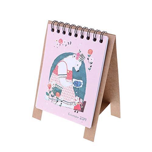 Grea Papier Kalender multifunktionszeitplan Planer Notebook Kawaii Cartoon Tier Kalender Schreibtisch stehend, bär