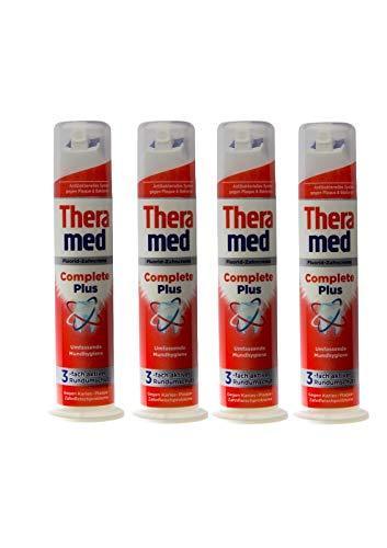 4x Theramed Complete Plus 3-fach aktiver Schutz Fluorid Zahncreme, 100ml