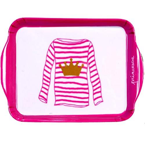 Mini-Tablett Prinzessin aus Melamin - Prinzessin Servierplatte Servierplatten