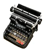 Sawanica Creative Vintage Résine en Métal Noir à l'Ancienne Machine à Écrire...