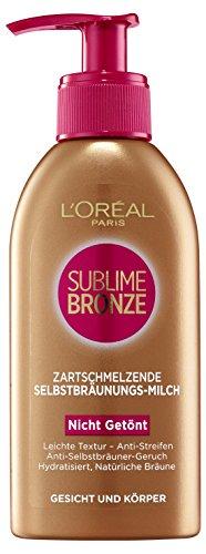 L'Oreal Paris Selbstbräuner Sublime Bronze Selbstbräunungsmilch, 150 ml -