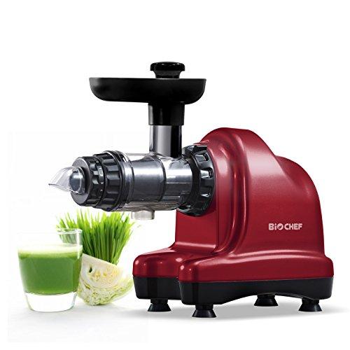BioChef Axis Slow Juicer / Kaltpress Entsafter / Horizontaler Entsafter / Saftpresse - 150Watt & 60U/min - ideal für Weizengras,...