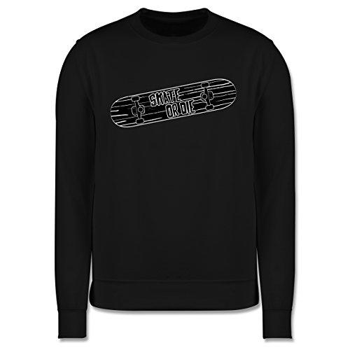 sonstige-sportarten-skate-or-die-3xl-schwarz-jh030-herren-premium-pullover