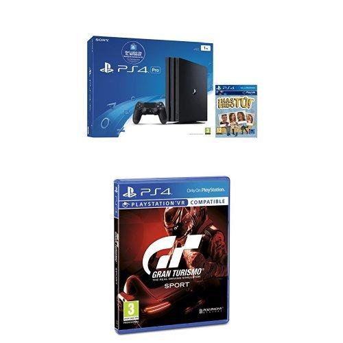 PlayStation 4 Pro (PS4) - Consola + Voucher 10 € + Voucher ¡Has Sido Tú! Chasis A + Gran Turismo Sport - Edición Estándar