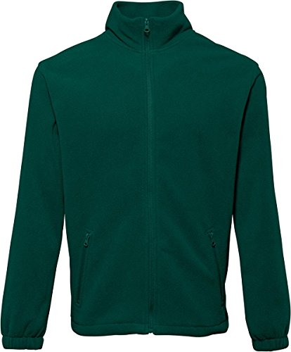2786 Herren Oberbekleidung Warm Winter Coat 2 Paket Cadet Kragen Full Zip Fleece Jacke Grün - Flaschengrün