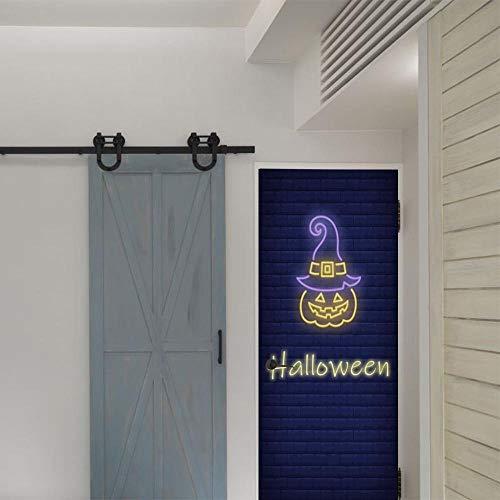 Loui's Home Halloween Kürbis Kopf Aufkleber DIY Dekoration 3D Wohnzimmer Schlafzimmer Selbst Aufkleber Wandaufkleber