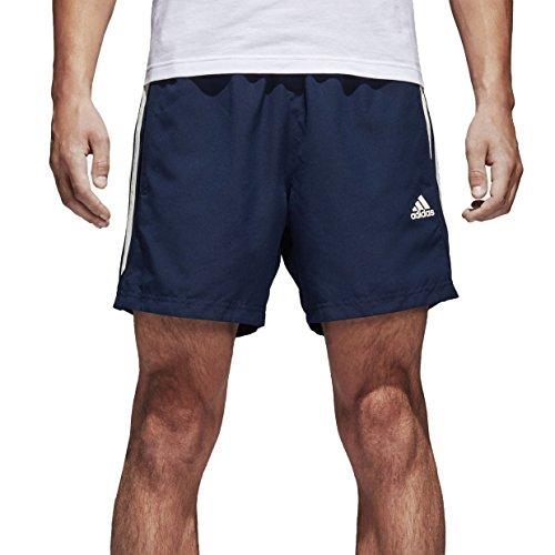 adidas Herren Essentials 3 Stripes Chelsea Badeshorts, Collegiate Navy/Off White, L