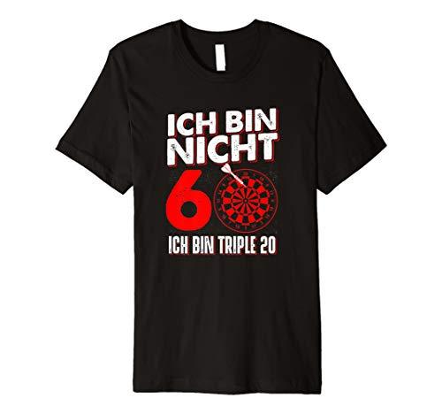 Ich bin nicht 60 ich bin Triple 20 Geburtstag Dart T-Shirt