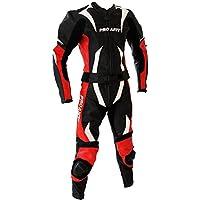 Lederkombi Motorrad Leder Kombi von PROANTI® Motorradkombi 2 Teiler