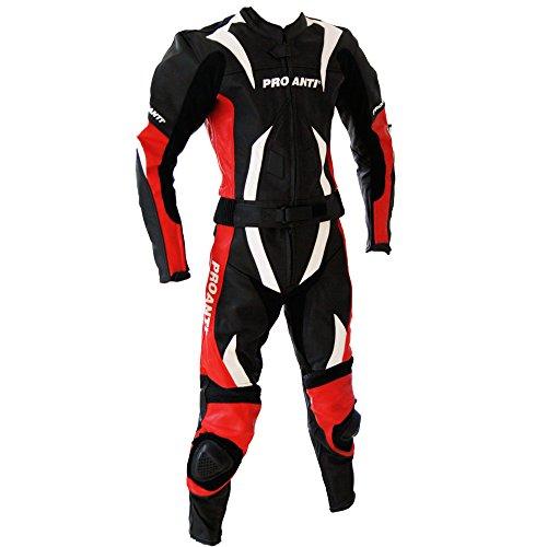 *Lederkombi Motorrad Leder Kombi von PROANTI® Motorradkombi 2 Teiler*