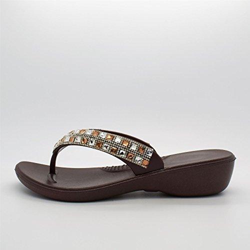 London calzature indiana, scarpe da infradito Brown
