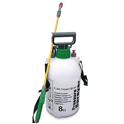 8L Liter Drucksprüher Flasche Pumpe Pflanze Wasser chemischen Weed Killer mister-3Jahre Garantie.