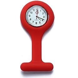 Facilla® Nurse's Fob Watch Fob Watch Quartz Watch Fashion Brand New Red