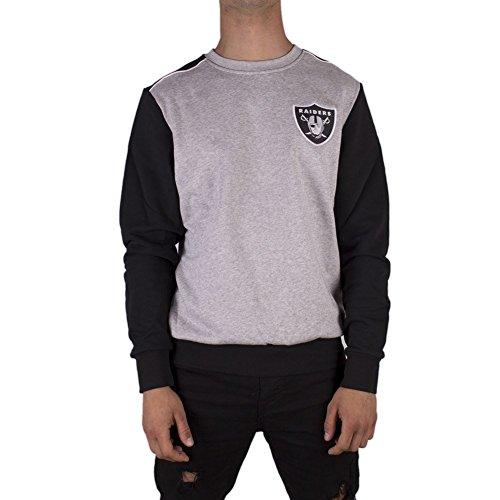 Majestic Sweatshirt - NFL Oakland Raiders Tobias Small Logo Grau/Schwarz Größe: M (Medium)
