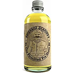 """Aceite preafeitado Sergeant Stanley's """"Sin cortes"""" - 100 ml mezcla natural y orgánica"""
