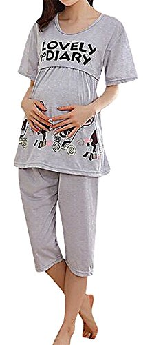 Romano Women's Feeding/Nursing/Maternity Top & Pyjama Set (Colour/Print Randomly Sent)