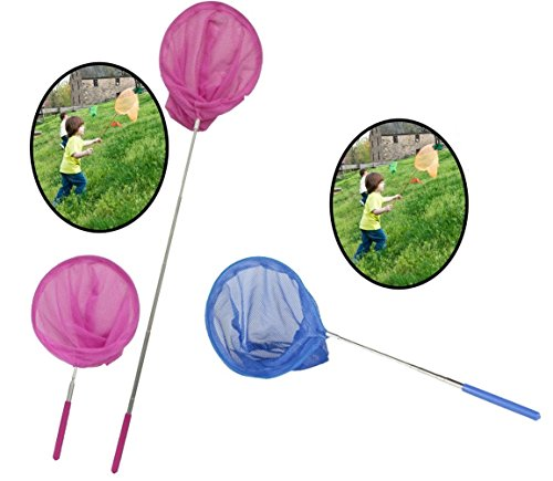 unibos-extendable-fishing-butterfy-bug-insect-net-handle-garden-home-outdoor-beach-camping-assorted-