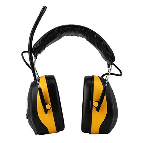 Suchinm cuffie antirumore, cuffie protettive elettroniche appositamente progettate per la protezione dell'udito, con display lcd, radio paraorecchie