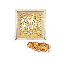 "YaYa Cafeâ""¢ Holi Sweets Gift Pack Kesar Gujiya Gift Hampers Happy Holi Engraved Wooden Gift Box -Kesar Gujiya - 500 gm"