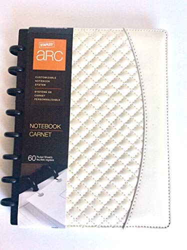 Staples Arc System Customizable Quilted Pu Leather Notebook System 5 1 2 X 8 1 2 Each Ivory