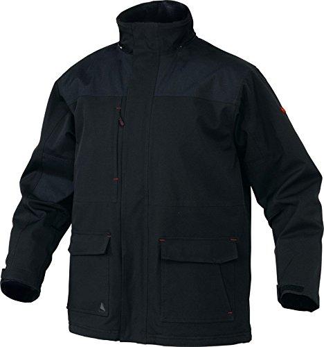Panoply Milton nero da uomo impermeabile e traspirante parka giacca Black XXXL/132 - 142 cm