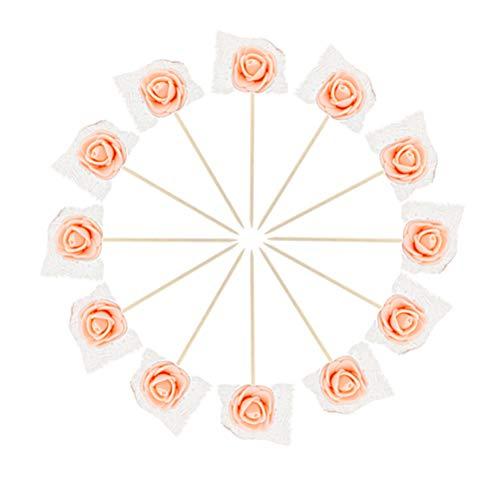 ake Topper Rose Kucheneinsatz Karte Rose Kuchen Dekorationen Geburtstag Hochzeitstorte Plug-in Kuchen Dekoration ()