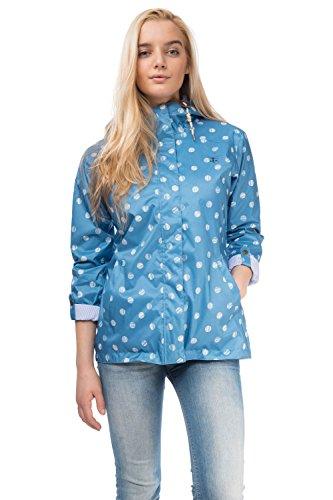 Lighthouse Bluejay da donna, corti, giacca impermeabile da donna Marine Polka Dot 40