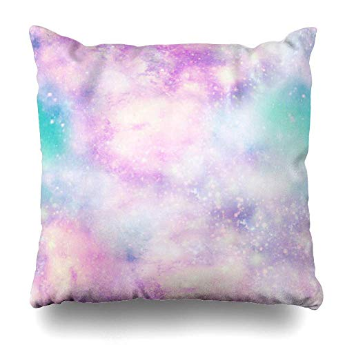 epillows Case Throw Pillows Covers for Couch/Bed 18 x 18 inch,Blue Space Unicorn Cloud Sky Galaxy Home Sofa Cushion Cover Pillowcase Gift Bed Car Living Home ()