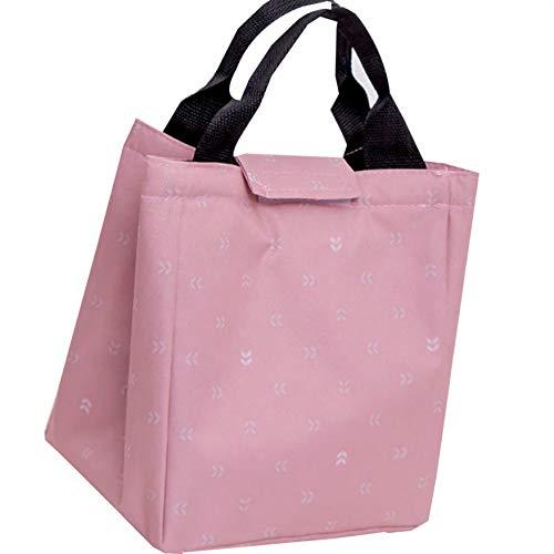 Bodbii Lunchbox aus wasserdichtem Oxford-Gewebe, große Kapazität, Isolierte Taschen, Wärmebewahrung, Picknicktasche, Rose, 23 * 19 * 17cm