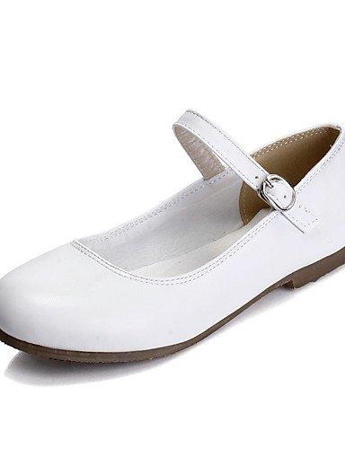 XAH@ Chaussures Femme-Extérieure / Habillé / Décontracté-Noir / Rose / Blanc / Amande-Talon Plat-Baby / Bout Arrondi-Plates-Similicuir black-us7.5 / eu38 / uk5.5 / cn38