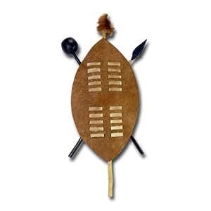 """Amazon.de: Wandschmuck""""Zulu-Schild"""", ca. 55 cm, braun"""